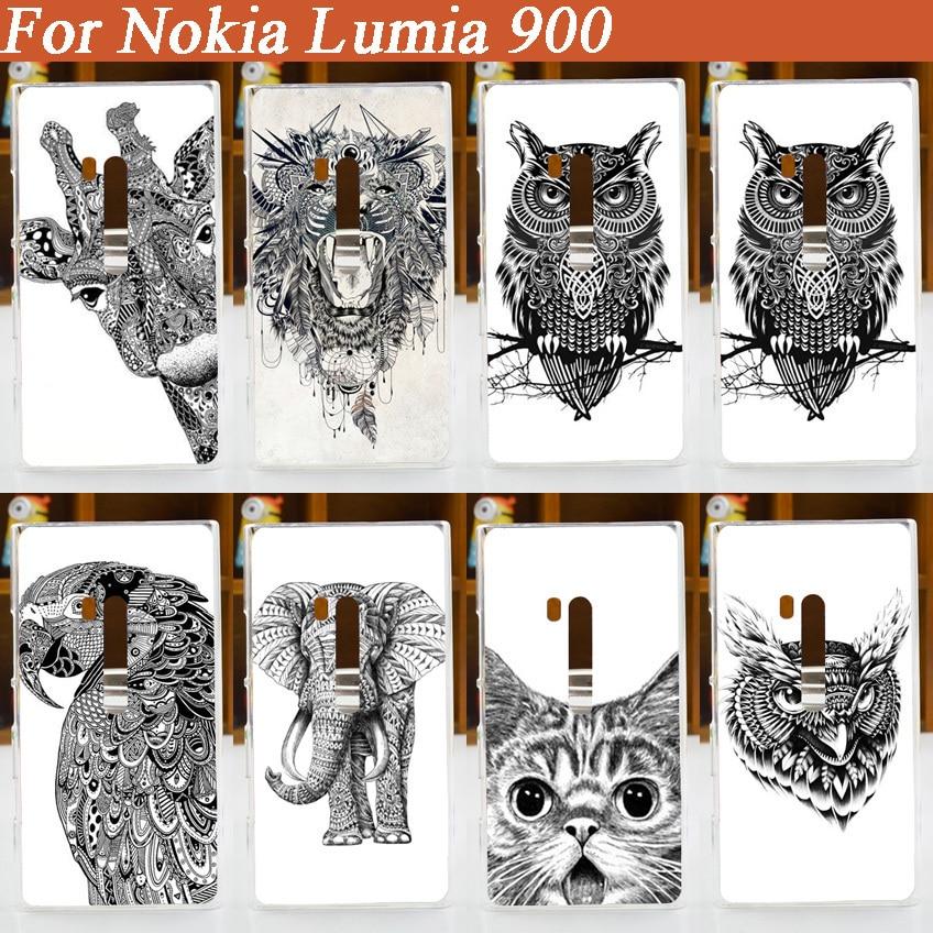 2015 nueva llegada guay pintado caso para Nokia lumia 900 blanco y...