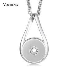 Vocheng имбирь оснастки кнопка ювелирные изделия оснастки Подвески ожерелье 18 мм кулон с цепочкой из нержавеющей стали NN-628
