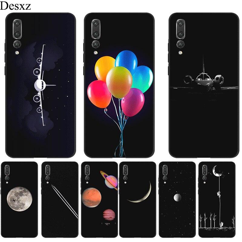Funda de teléfono móvil para Huawei Y5 Y6 Y7 Y9 Prime Mate 10 20 Pro Nova 2i 3i 2 3 4 Lite funda avión luna