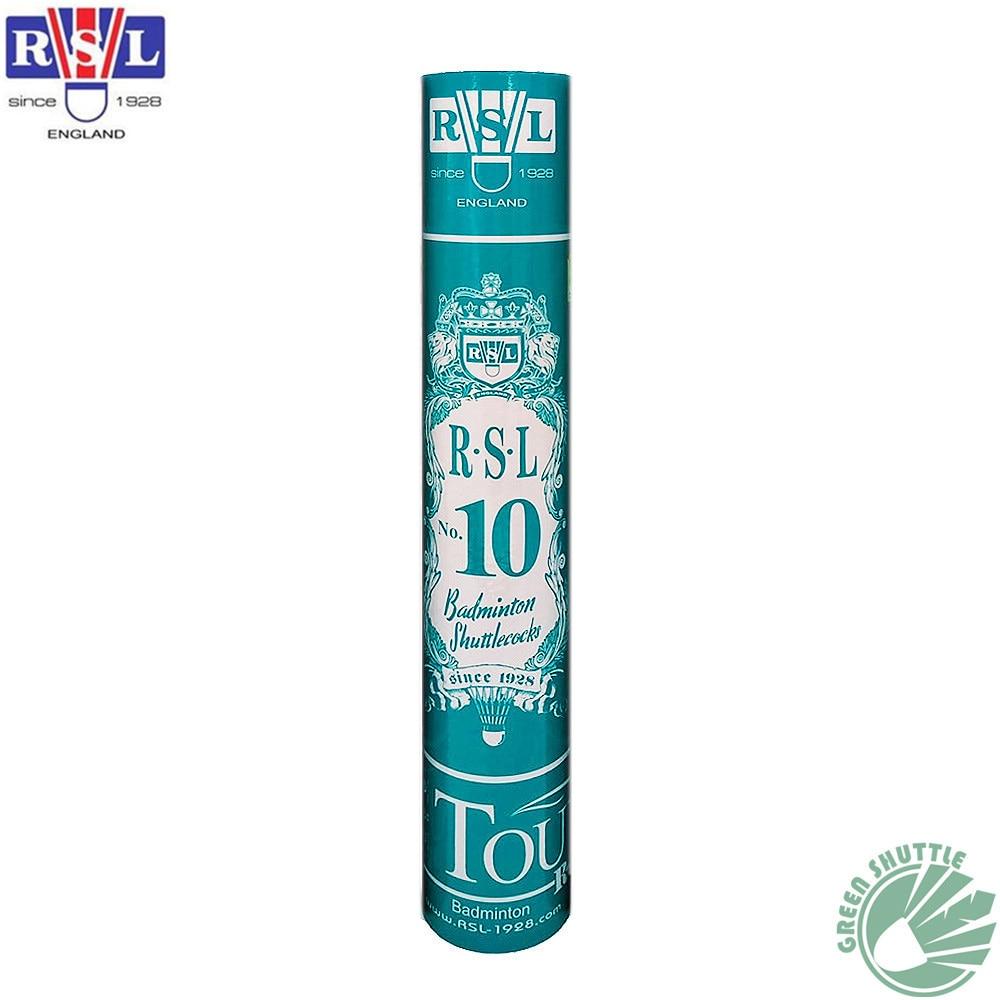 2019 100% натуральная RSL Tourney Воланы № 10 Бадминтон челнок утка перо мяч для начинающих