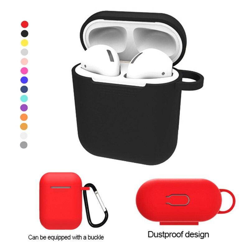 Para Airpods QI estándar receptor inalámbrico cubierta auricular Carcasa protectora para Apple AirPower cargador inalámbrico