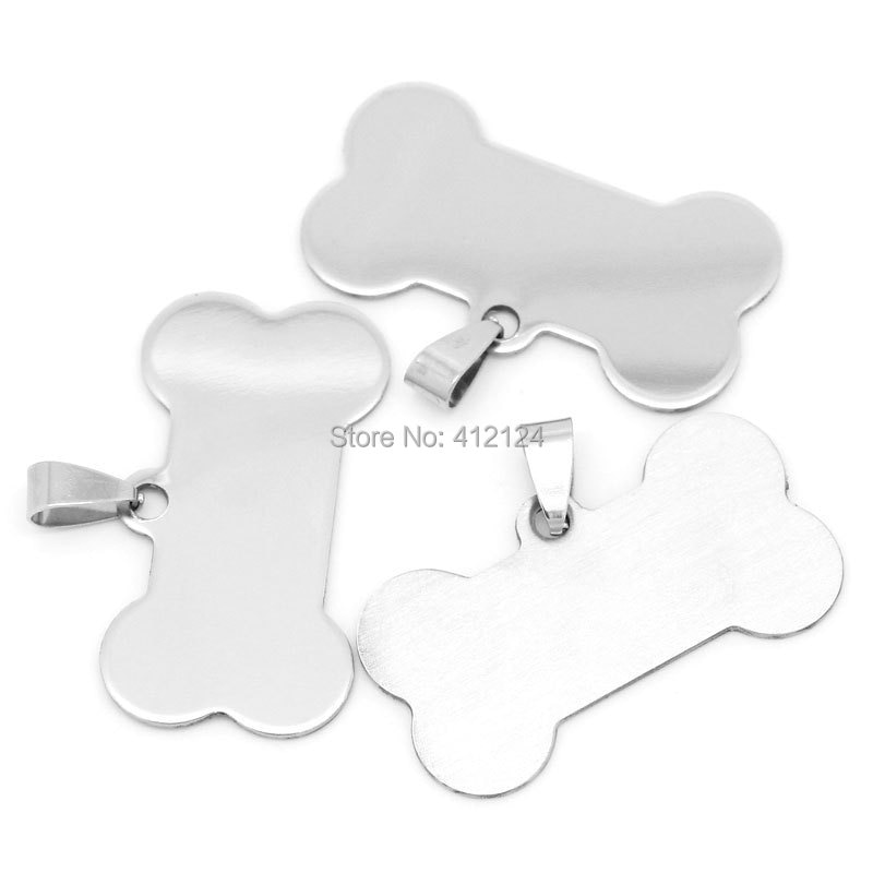100 قطعة الفضة لهجة العظام الفولاذ المقاوم للصدأ المعلقات مجوهرات الحرفية DIY النتائج سحر 2.9x4 سنتيمتر (1 1/8