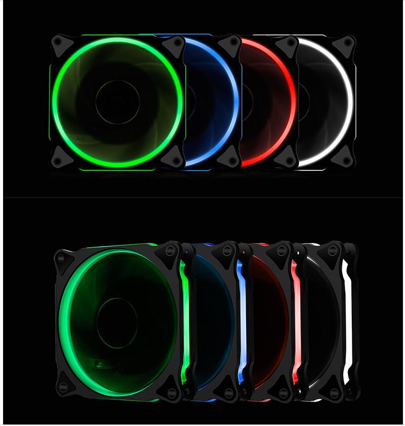 Ventilador Segotep de 12 cm, ventilador Ultra silencioso para ordenador, ventiladores de 120mm, 12 V, disipador térmico silencioso, refrigeración, 3 pines, 4 pines para PC de escritorio