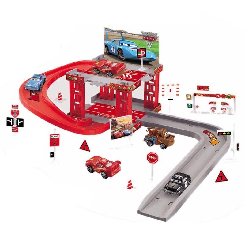 Samochody Disney Pixar błyskawica Mcqueen Mater utwór parkingu z tworzywa sztucznego Diecasts zabawki Model samochodu zabawki prezent na Boże Narodzenie dla dzieci