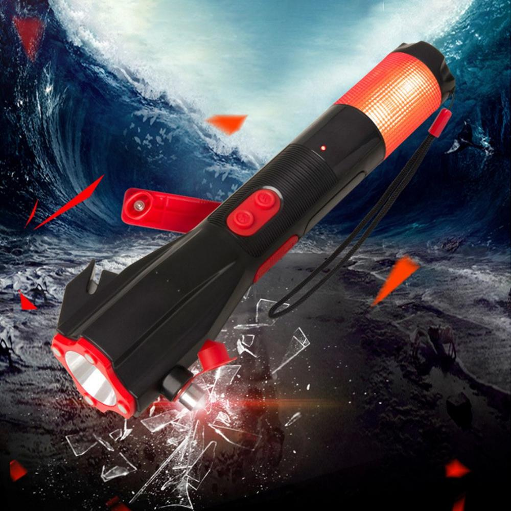 Multifunktionale Taschenlampe Notfall Lampen Sicherheit Hammer Handkurbel Power Feuer Flucht Hammer Auto Notfall Liefert