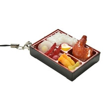 1 pièces nouveau japonais alimentaire porte-clés Simulation Sushi lanière en plastique porte-clés sangle de téléphone portable