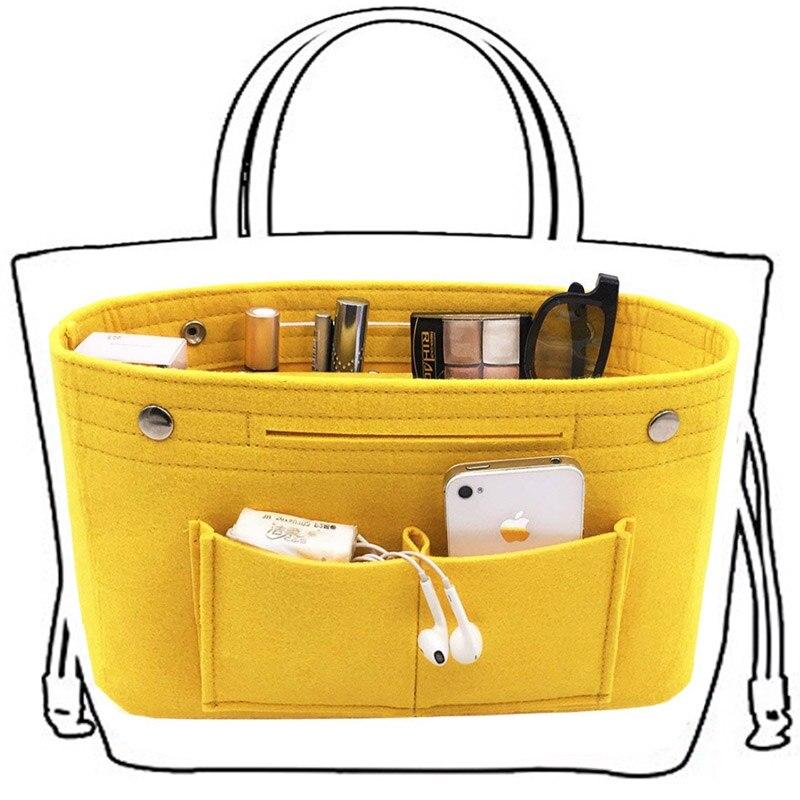 Bolsa interior de tela de fieltro Obag, bolso de moda para mujer, organizador de almacenamiento de cosméticos con múltiples bolsillos, bolsas, bolsos, accesorios para equipaje