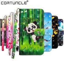 Flip Deri Kılıf sFor Coque Huawei Onur 8X 7X 7C 7A 10 Play Y9 Y7 Y3 Y5 Y6 2018 y5 Y3 Y6 2017 Kapakları 3D Boyalı telefon Kılıfları