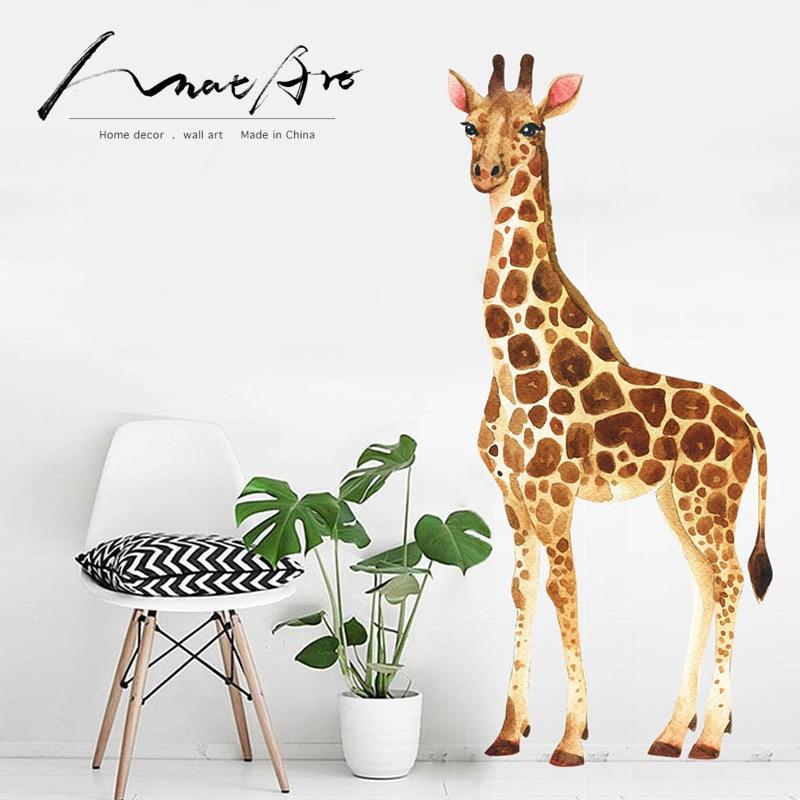 Decoración de pared moderna de hogar, calcomanías de jirafa para pared, arte...