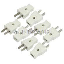 8 Stücke AC 250 V 10Amp Kopf 2 Pin US USA AU Netzstecker Hellgrau