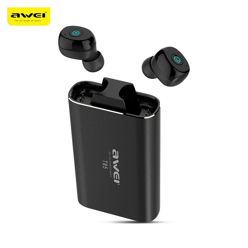 Auriculares Bluetooth Wei T85 auriculares inalámbricos TWS más nuevos con estuche de carga auriculares deportivos con micrófono Cancelación de ruido