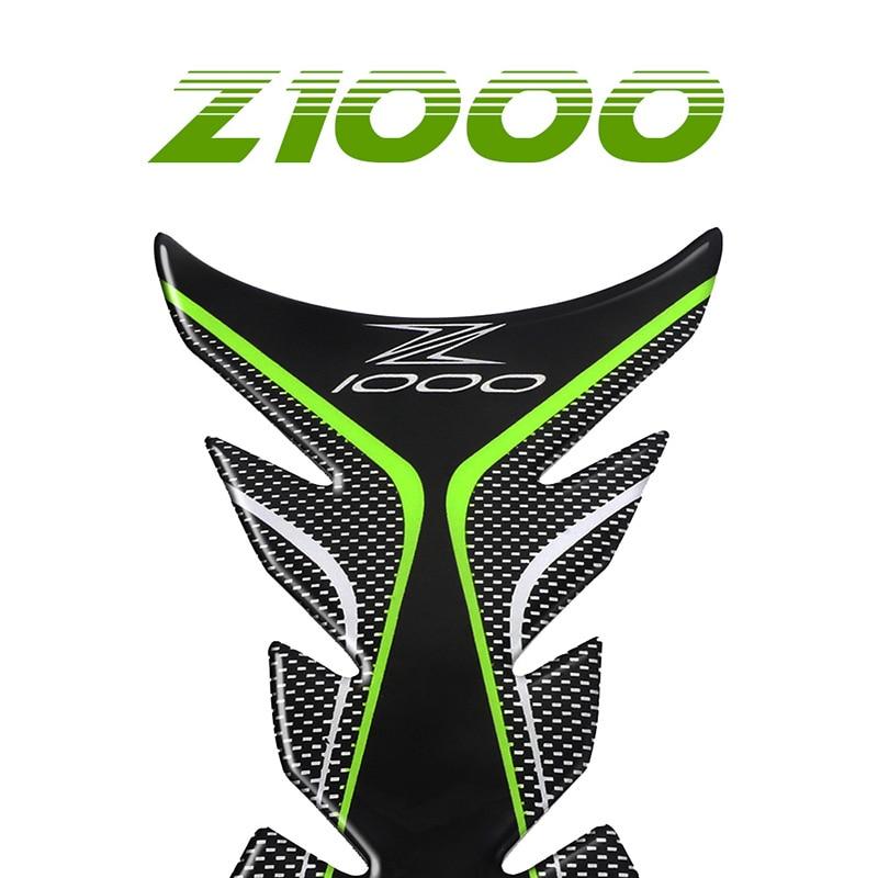 Protector de Gas para motocicleta para almohadilla de depósito para Kawasaki Ninja Z1000 Z 1000, calcomanías adhesivas, película de combustible para hueso de pez, pegatina de protección Z1000