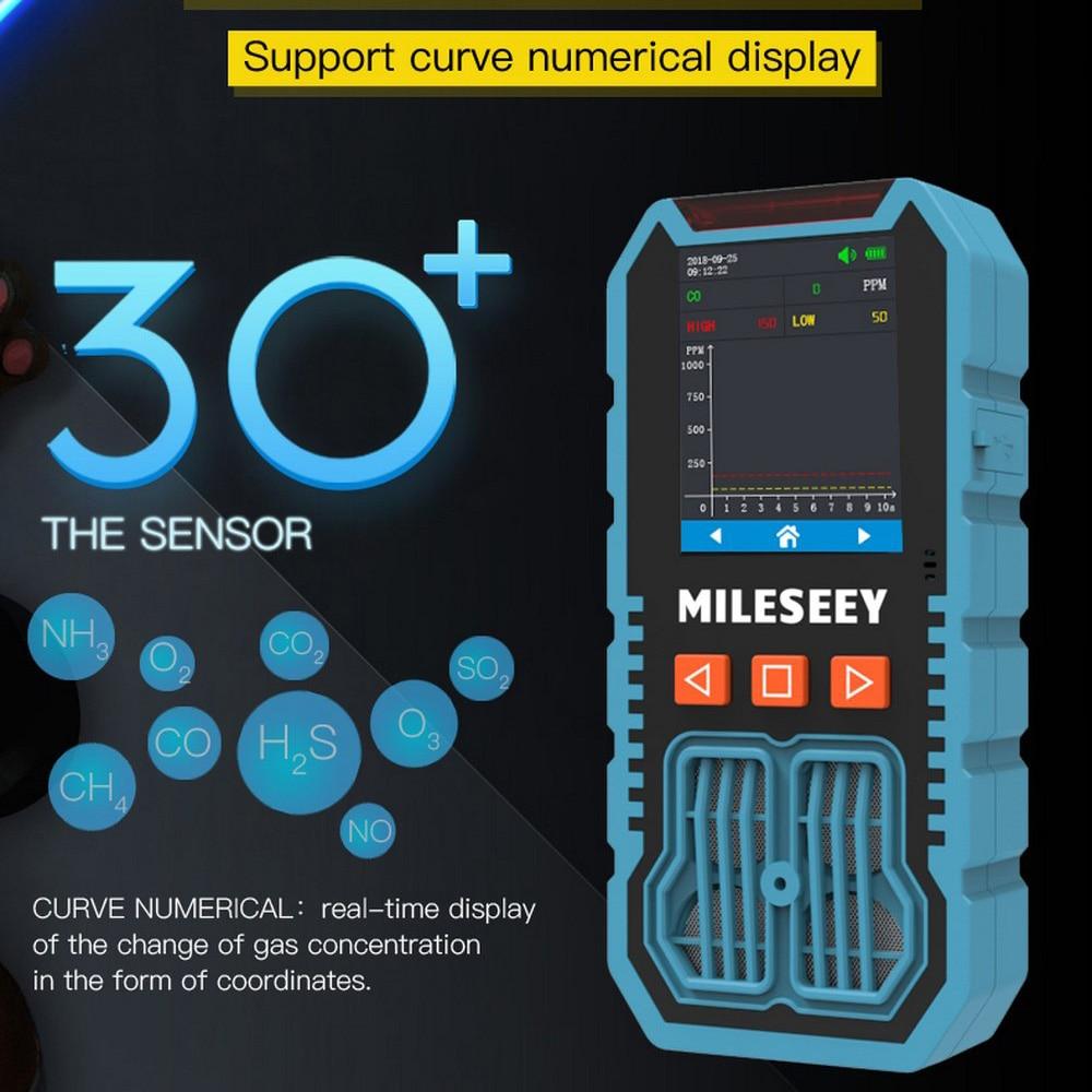 H2S/CO/O2/EX Detector de Gas 4 en 1, Analizador de aire portátil, alta precisión, Detector de Gas tóxico perjudicial con sistema de alarma