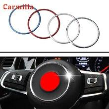 Anneau de volant de volant de voiture   Autocollant couverture centrale de garniture, accessoires de décoration pour VW Jetta MK6, nouveaux accessoires Polo Golf 6 MK6 Bora
