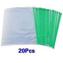 Betaalbare Kantoor Groene Clear Size A4 Papier Slider Zip Mappen Pvc Bestanden Zakken 20Pcs