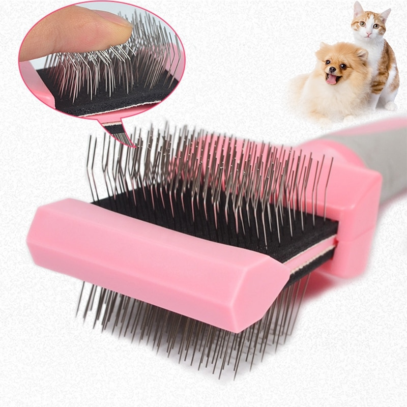 Double-sided Pet Comb Big Dog Brush Beauty Comb for Cats Dogs Hair Removal Soft Brush Pet Comb Groom