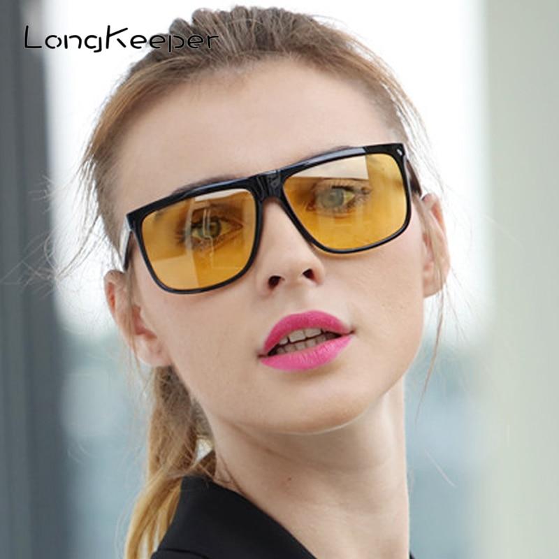 Long Keeper Night Vision Sunglasses Women Polarized Driving Sun Glass Men Anti-glare Oversized Safety Gafes de sol UV400