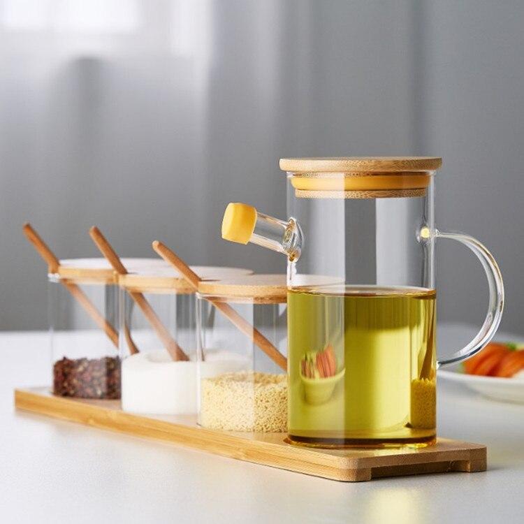 Glass quantitative oil bottle Japanese leakproof oil bottle kitchen household oil tank creative soy sauce vinegar bottle
