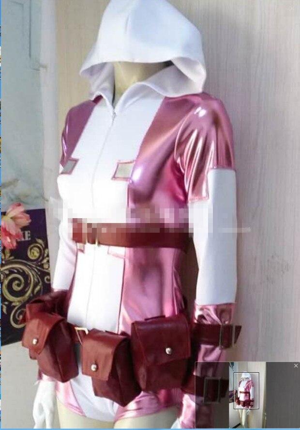 Костюм для косплея гвенпул, розовый, с привидением, на заказ