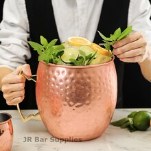 Tasse de Mule martelée Extra Large 5L   Tasse de méga tasse de moscou, tasse de seau à glace Mule