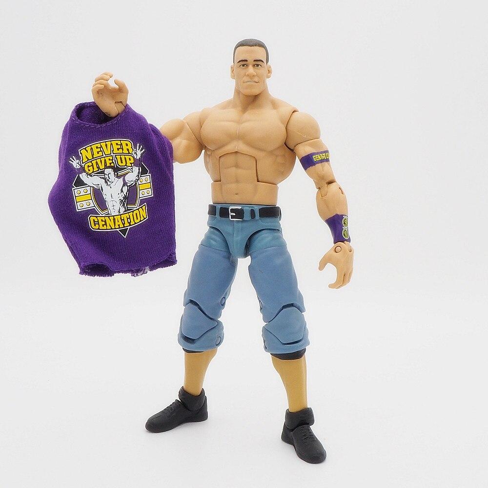 Wrestling gladiadores figuras de ação wrestler blocos de construção super heróis crianças brinquedos presente john cena elite roxo t