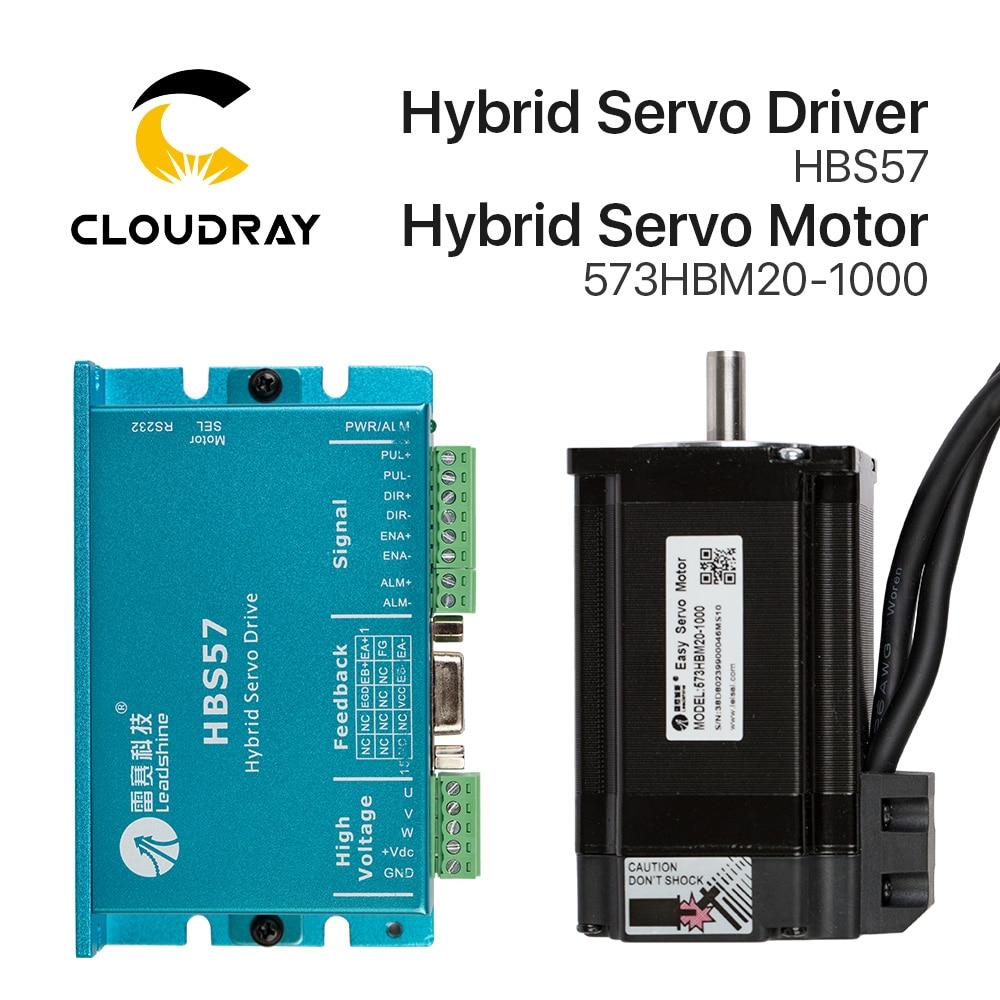 Cloudray Leadshine HBS57 + 573HBM20-1000 HBS507 nema23 3 مراحل, سيرفو مغلق حلقة