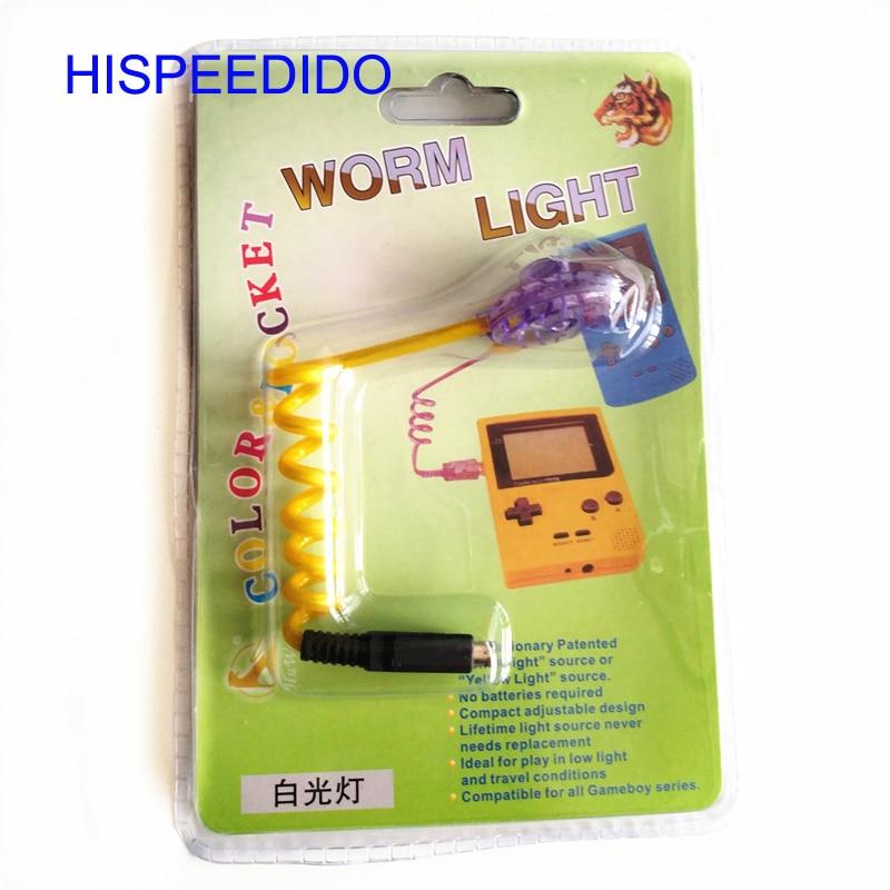 HISPEEDIDO 10 قطعة/الوحدة لنينتندو GBC GBP دودة ضوء الإضاءة LED مصابيح ل Gameboy اللون و ل جيب وحدة WormLight