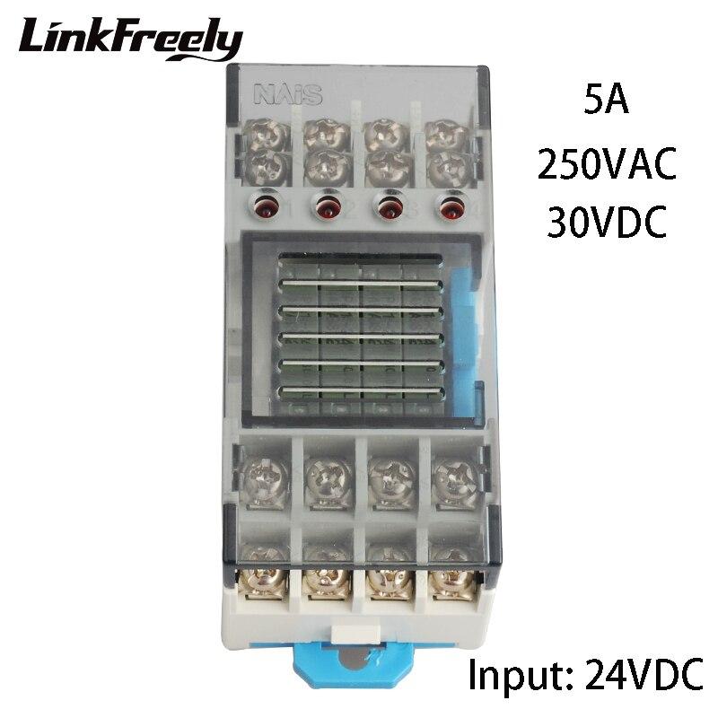 RT3S-24 V Hohe Qualität Integrierte Micro Relais Basis Eingang 24V DC Ausgang 250V AC 30V DC 5A Terminal Relais Mudule Gruppe