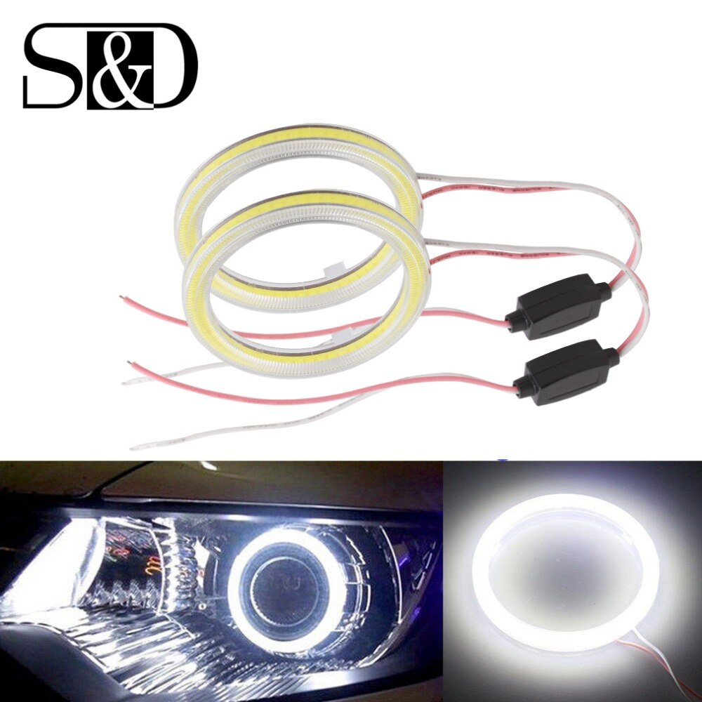 2Pcs Angel Eyes Halo Rings 60mm 45 Chips COB Car LED Headlight Motorcycle Fog Lights Auto Driving Lamp Blubs DRL Car Styling 12V