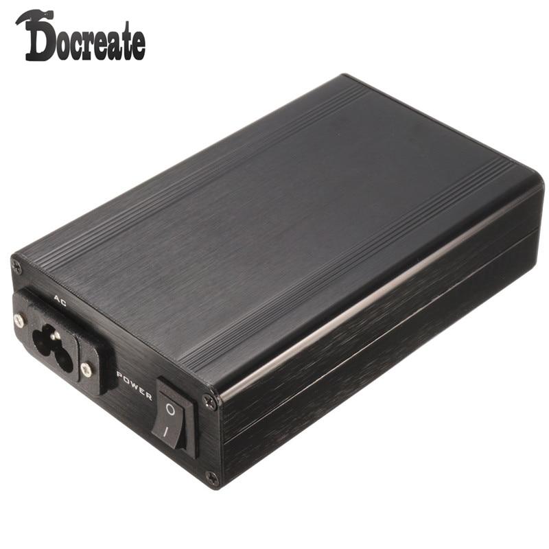 T12 Цифровой паяльник станция алюминиевый черный корпус с выключателем питания