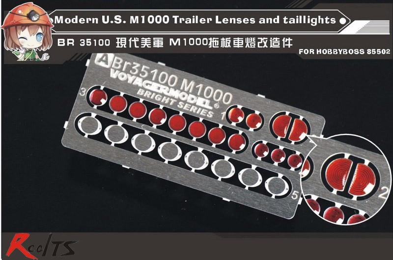 Lentes y luces traseras para remolque realts Voyager BR35100 1/35Modern US M1000 (para HB85502)