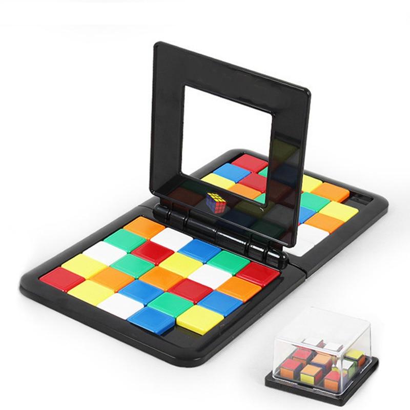Bloque mágico juego de mesa de carreras juguetes interacción entre padres e hijos Cubo de escritorio ladrillos divertidos juguetes educativos para niños adultos regalo