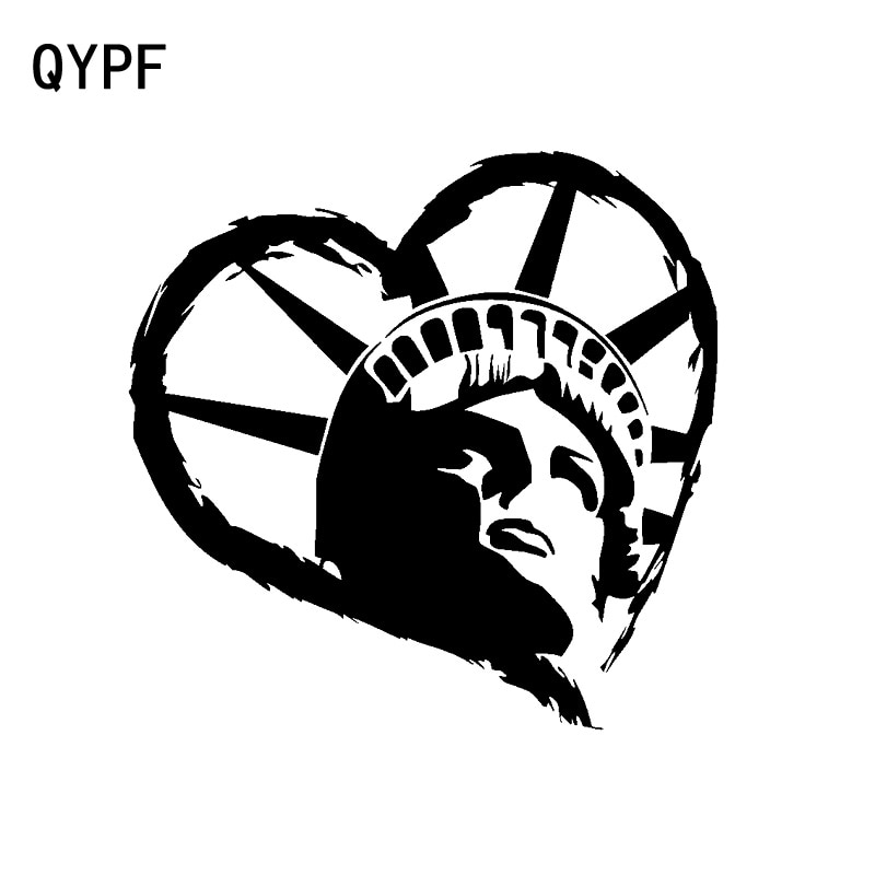 QYPF 16.8CM*16.5CM Heart Love Fashion Atmosphere Vinyl Car Sticker Decal Graphical Black/Silver Acce