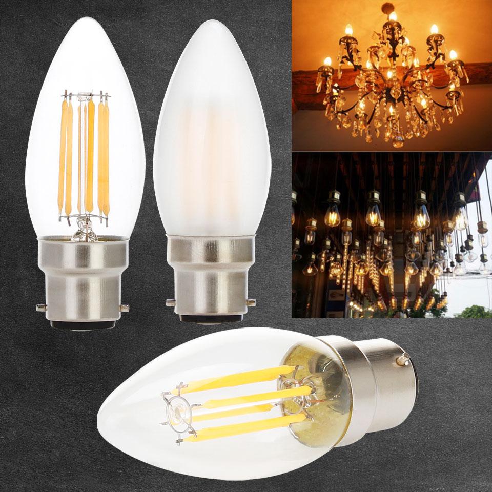 Dimmable Edison Lights bulbs B22 Bayonet 2W 4W 6W LED Filament Bulb Warm White 2700K Cold White 6000K led bulb 220V 240V 230V