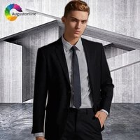 custom made black men wedding suit men suits with pants business blazer masculino slim fit groom tuxedo 2piece best man jacket