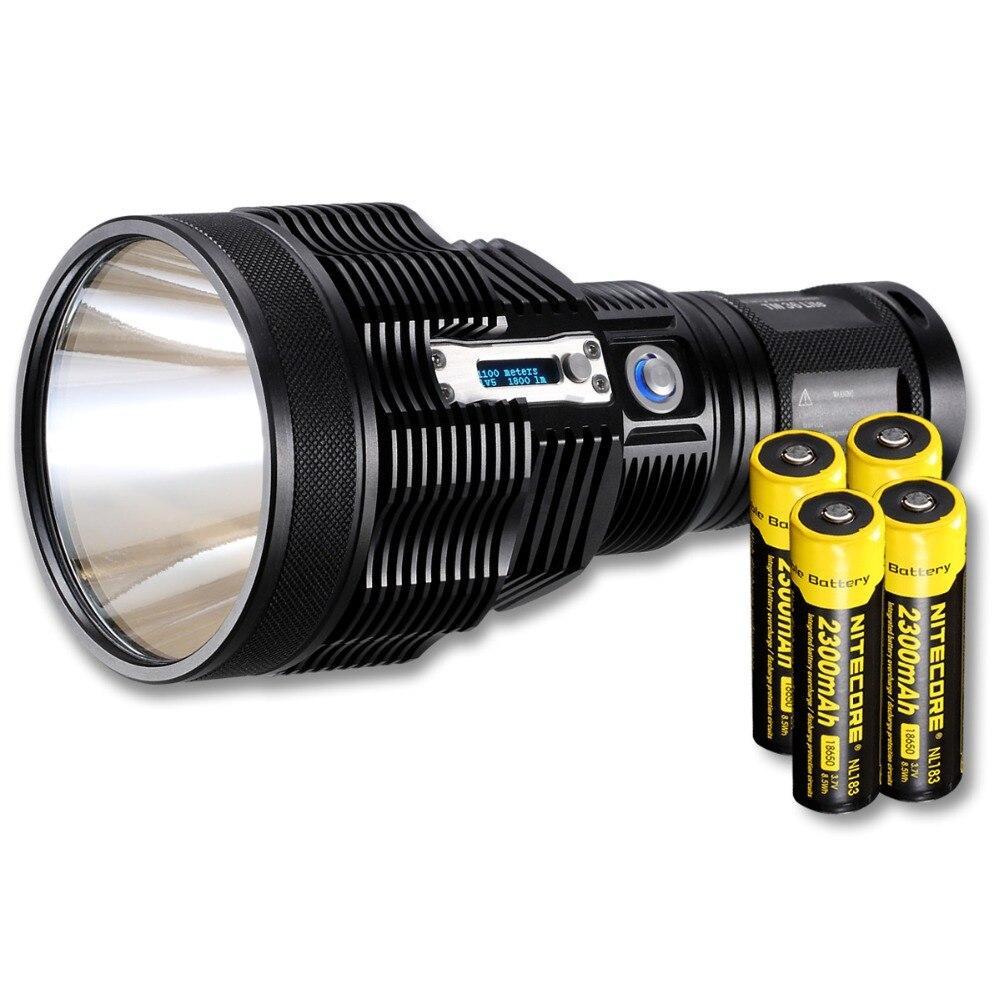 Venta NITECORE pequeño monstruo TM36Lite SBT-70 PA-C2 1800LM LED linterna recargable 1100M haz distancia + 4*18650 batería + cargador