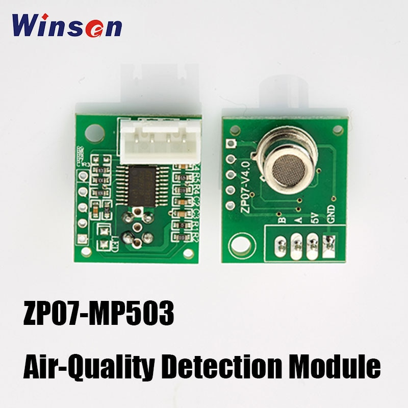 4PCS Winsen ZP07-MP503 Air-Quality Detection Module Adopts Flat Surface Semiconductor Gas Sensor, Low Power Consumption