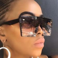 Fashion Women Square Sunglasses Brand Design Men Flat Top Oversized Gradient Sun Glasses UV400 Eyewe