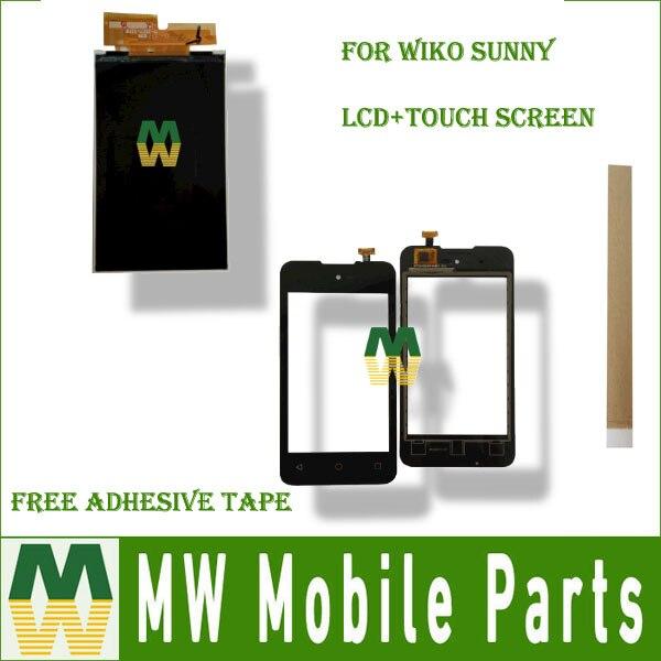 1 pieza por lote de pantalla LCD de alta calidad para Wiko Sunny y reemplazo del digitalizador de pantalla táctil