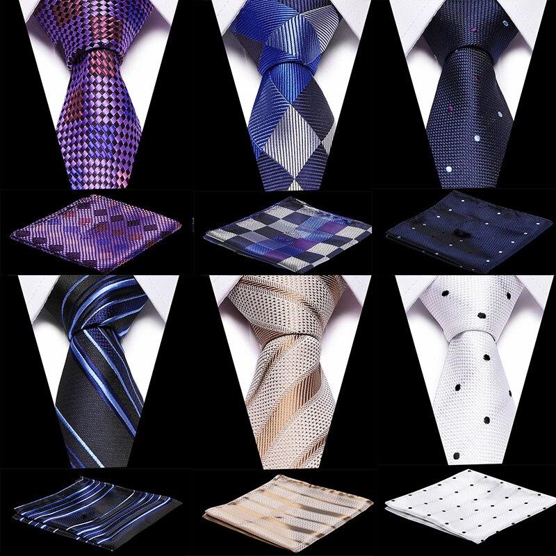 Purple Paisley Tie 100% Silk Tie&Handkerchief  Classic Business Wedding Party Set  Plaid Pocket Square Tie Hanky