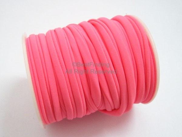 5mm pink Elastic lycra cord stitch oval lycra cord Lycra strip