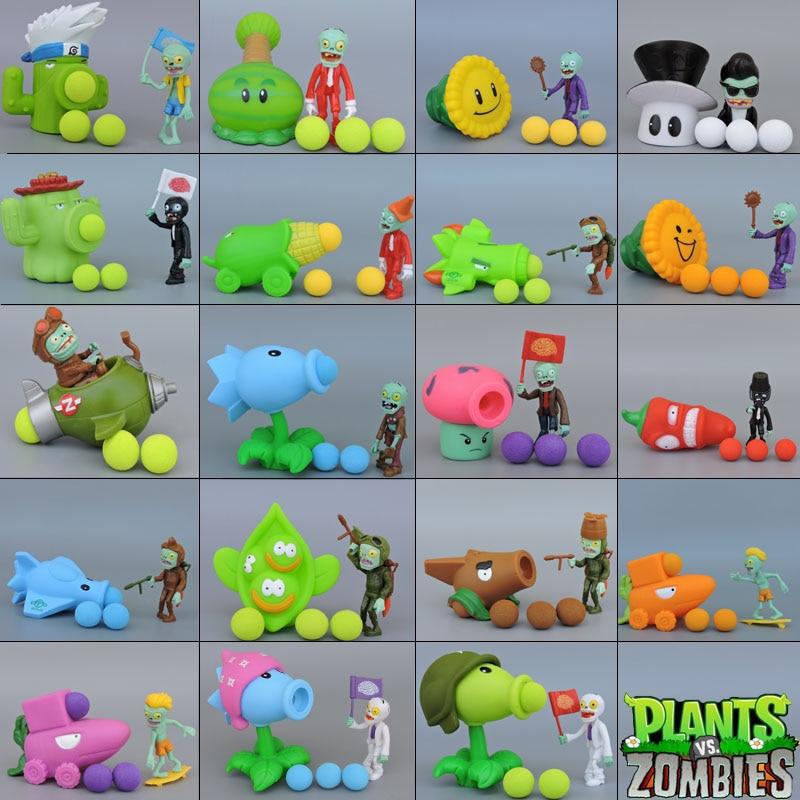 ПВХ экшн-фигурки, 21 стиль, PVZ Plants vs Zombies, Peashooter, модель игрушек, подарки, игрушки для детей, высокое качество, в поп-пакете