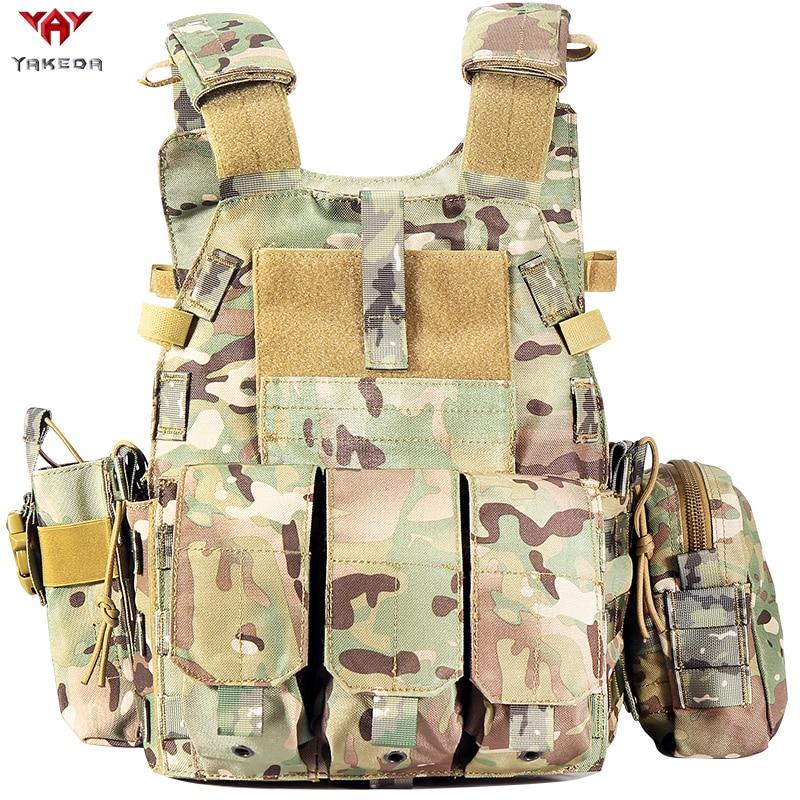 Yakeda-سترة تكتيكية من النايلون Molle ، ملابس عسكرية عسكرية للرجال ، 6094