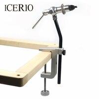 ICERIO 1 Set רוטרי לטוס מלחציים קשירה C-קלאמפ עם בסיס כבד כלי להכנת זבובים טוס וו כלים דיג