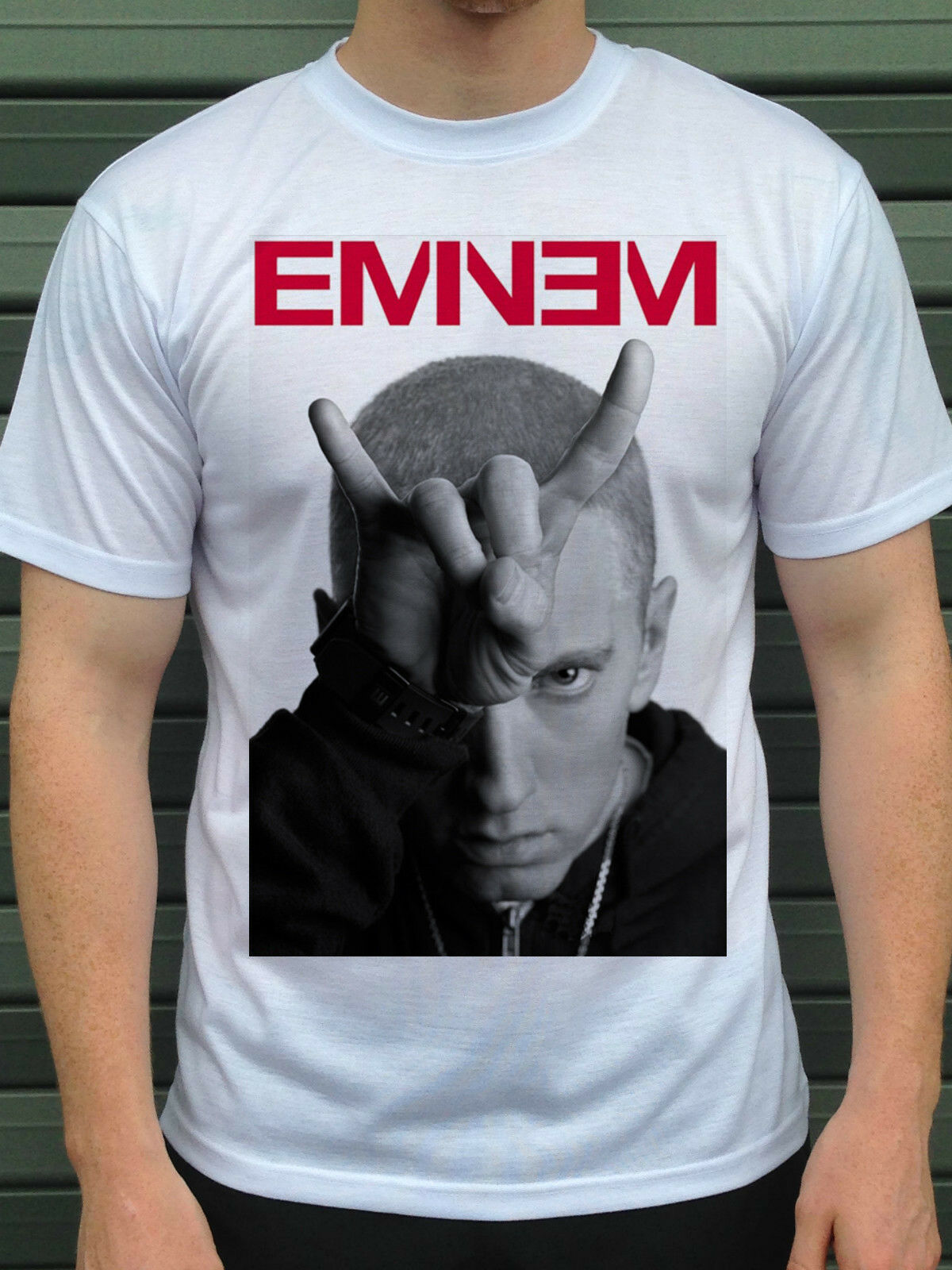 Camiseta de Eminem, S M XL 2XL 3XL hip hop/rap rapero cool stylish Tshirt camiseta suelta Negro hombres camisetas Homme