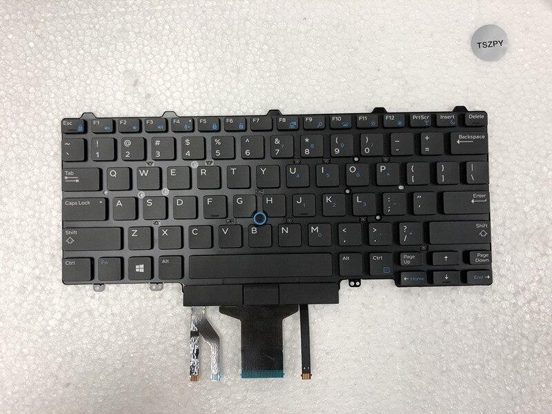Новая клавиатура для ноутбука DELL Latitude E5450 E5470 E7450 E7470 US раскладка с клавиатурой с подсветкой