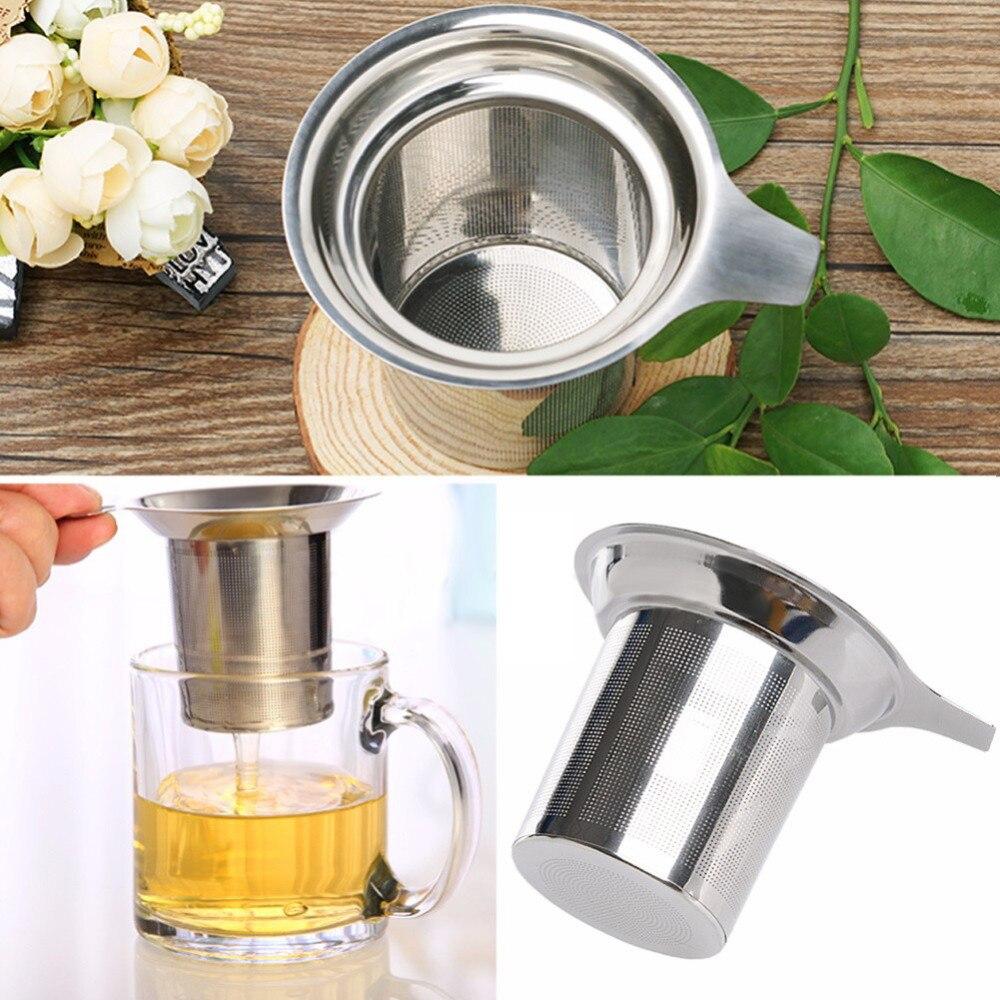 Filtro de chá de aço inoxidável malha solta folha spice filtros reutilizáveis chá para bule prático ferramenta chá café