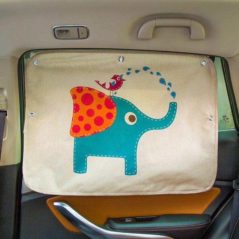 Parasol Universal para ventana lateral de coche, cortina de verano, visera Solar ajustable para bebé, láminas de protección Solar UV para niños
