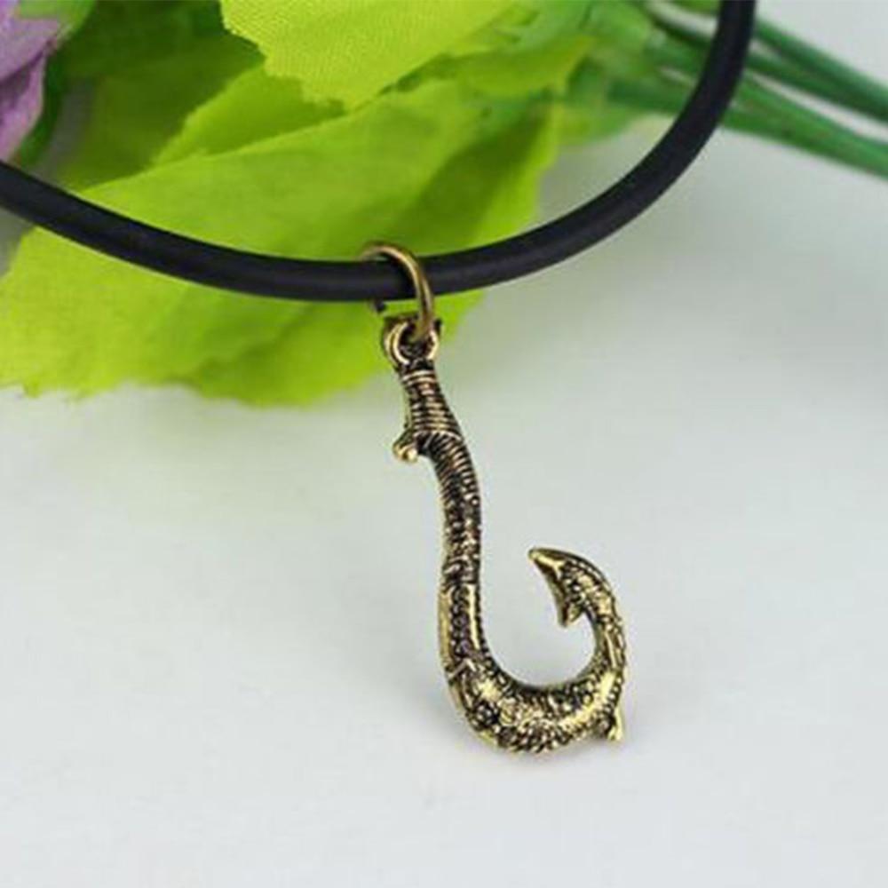 Crochet à poisson colliers film Moana princesse Maui pendentif Cosplay accessoires de rôle