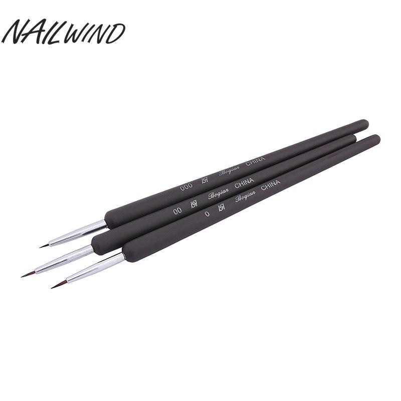 NAILWIND 3 uds pintura punteada delineador de gel uv herramienta de uñas bolígrafo de arte pintura dibujo HERRAMIENTA DE MANICURA